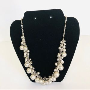 Ruby Rd Silvertone Necklace